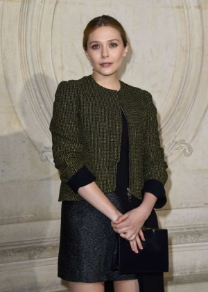 Elizabeth Olsen - Christian Dior Fashion Show 2015 in Paris