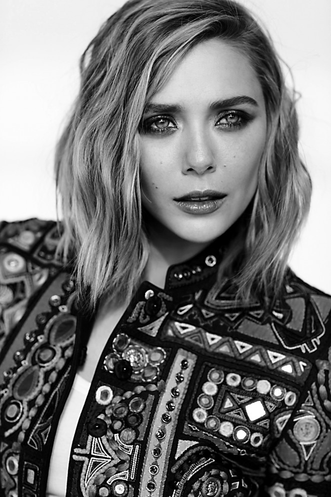 Elizabeth Olsen – Fashion Magazine (May 2015) adds