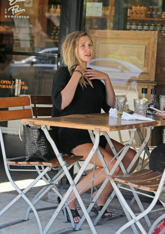 Elizabeth Olsen in Black Mini Dress -16