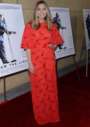 Elizabeth Olsen - 'I Saw the Light' Premiere in Los Angeles