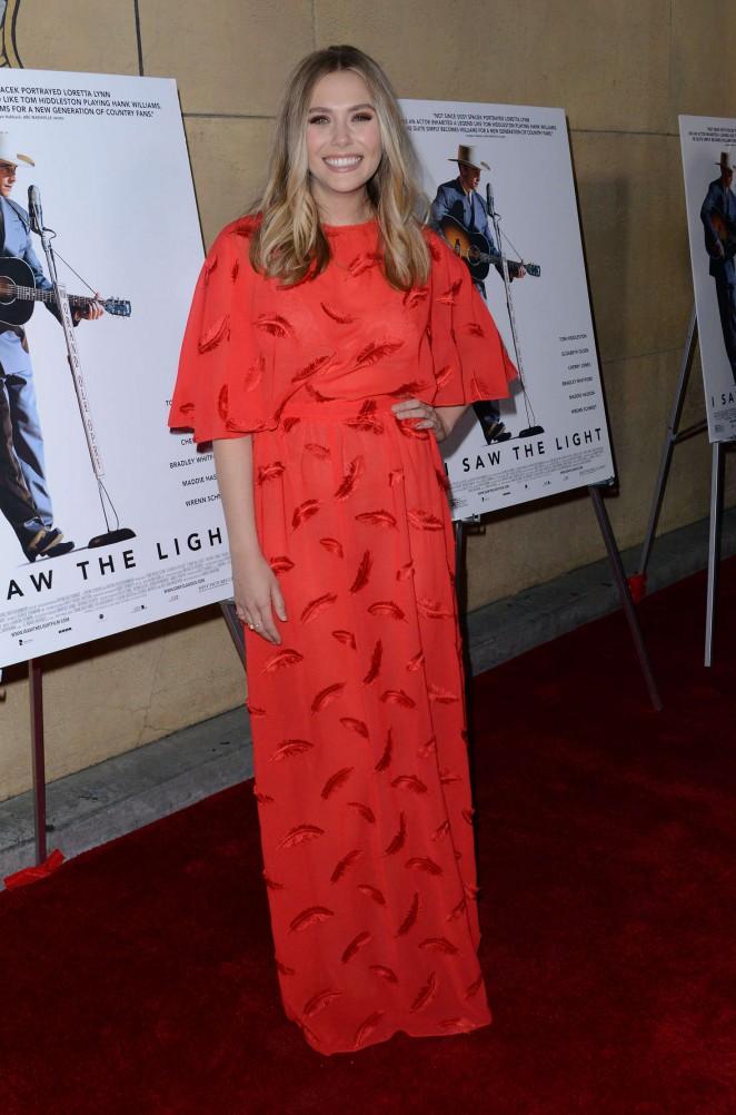 Elizabeth Olsen - 'I Saw the Light' Premiere in Los Angeles