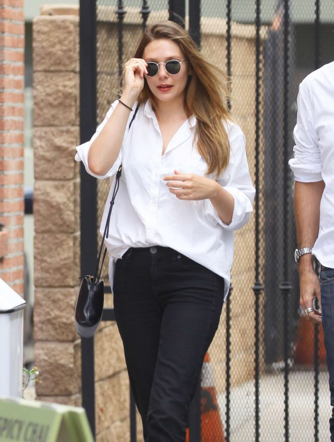 Elizabeth Olsen in Black Pants - Out in Studio City