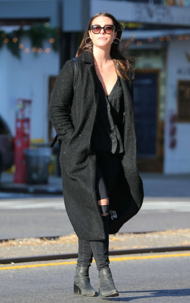 Elizabeth Olsen in Long Coat out in New York City