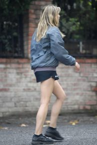 Elizabeth Olsen in Shorts - Out with Robbie Arnett in Sherman Oaks