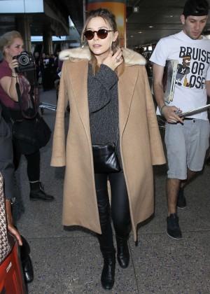 Elizabeth Olsen - LAX airport in Los Angeles