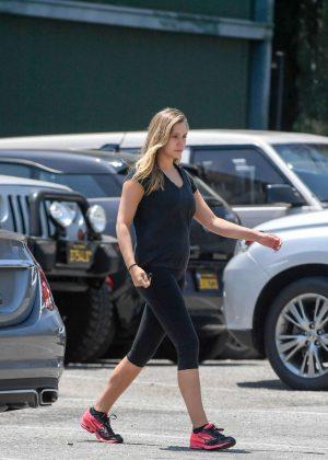 Elizabeth Olsen in Spandex Leaving a gym in West Hollywood