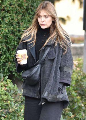 Elizabeth Olsen - Leaving Alfred's Coffee in Studio City
