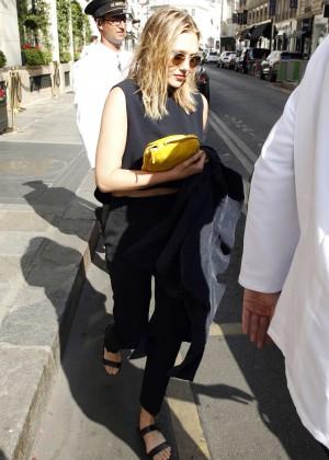 Elizabeth Olsen - Leaving Her Hotel in Paris