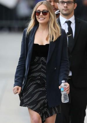 Elizabeth Olsen - Leaving 'Jimmy Kimmel Live' in LA