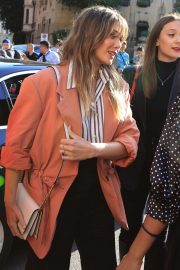 Elizabeth Olsen - Leaving the Womenswear Show in Milan