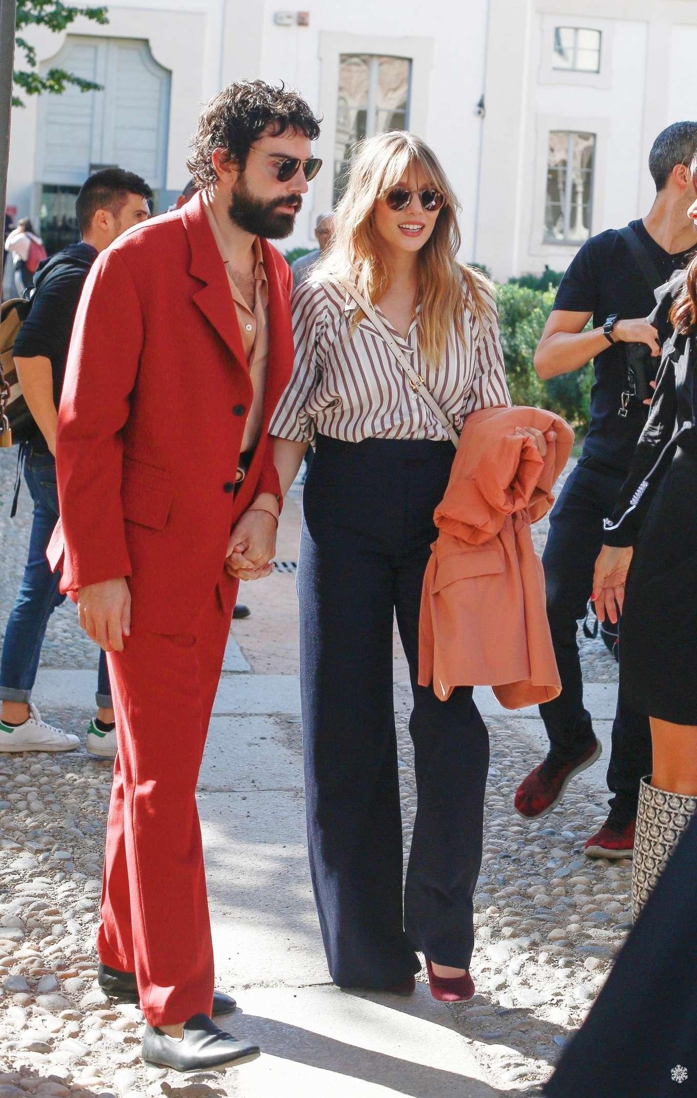 Elizabeth Olsen 2019 : Elizabeth Olsen – Leaving the Womenswear Show in Milan-02