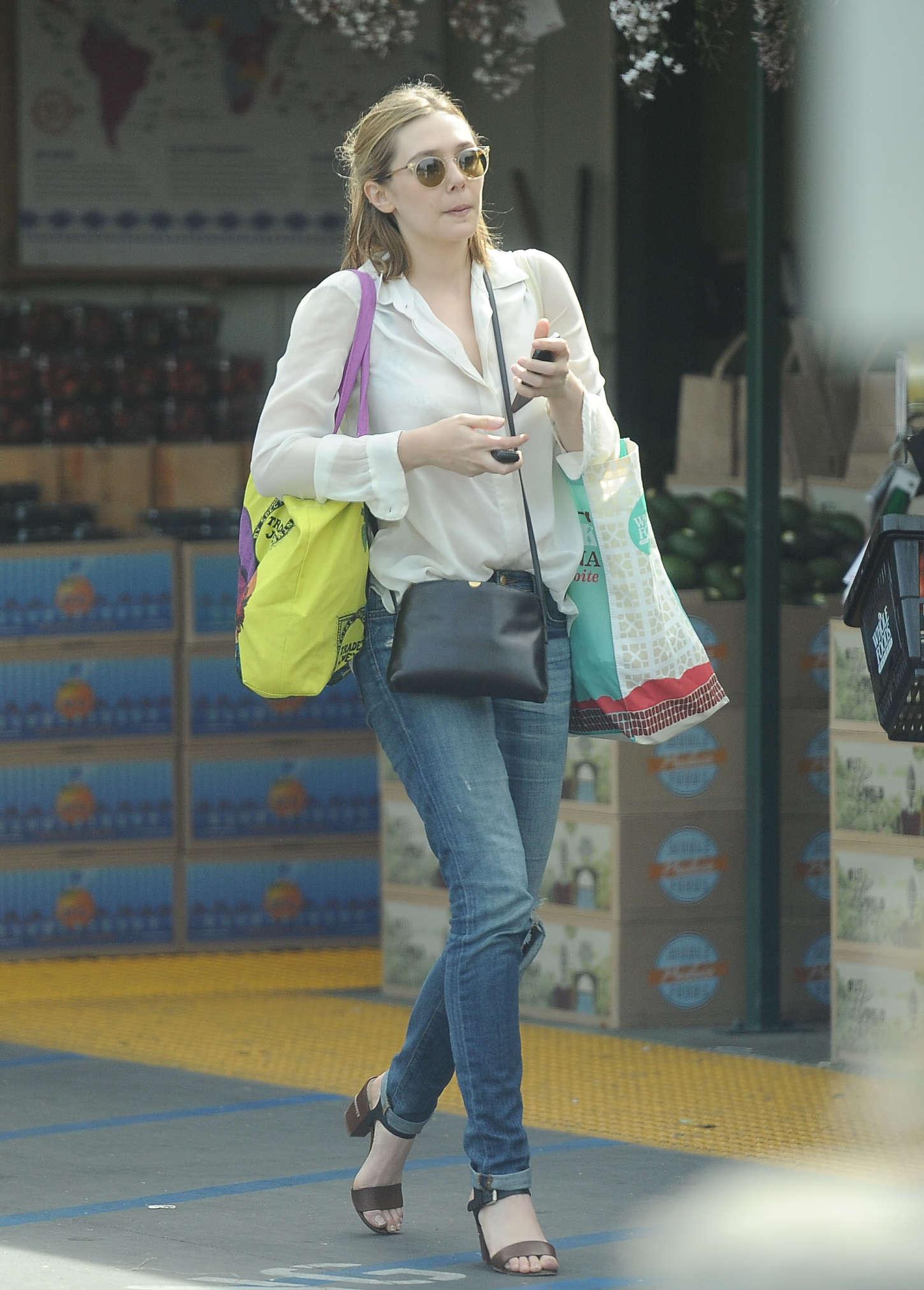 Elizabeth Olsen Leaving Whole Foods In La Gotceleb