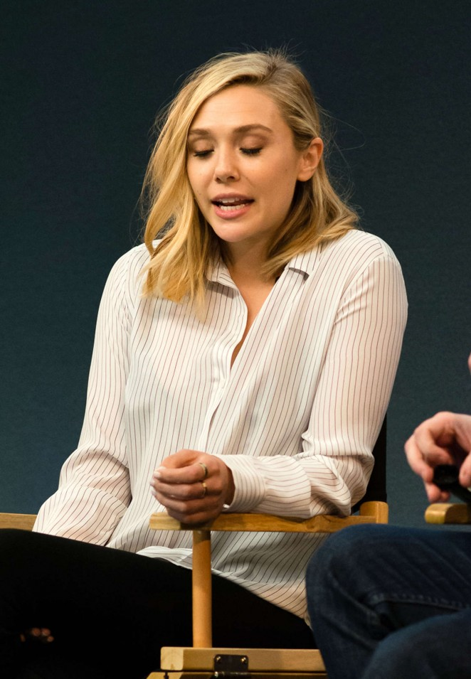 Elizabeth Olsen - Meet the filmmakers 'Avengers: Age of Ultron' at the Apple Store in London