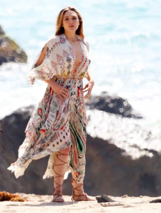 Elizabeth Olsen - Photoshoot at the beach in Malibu