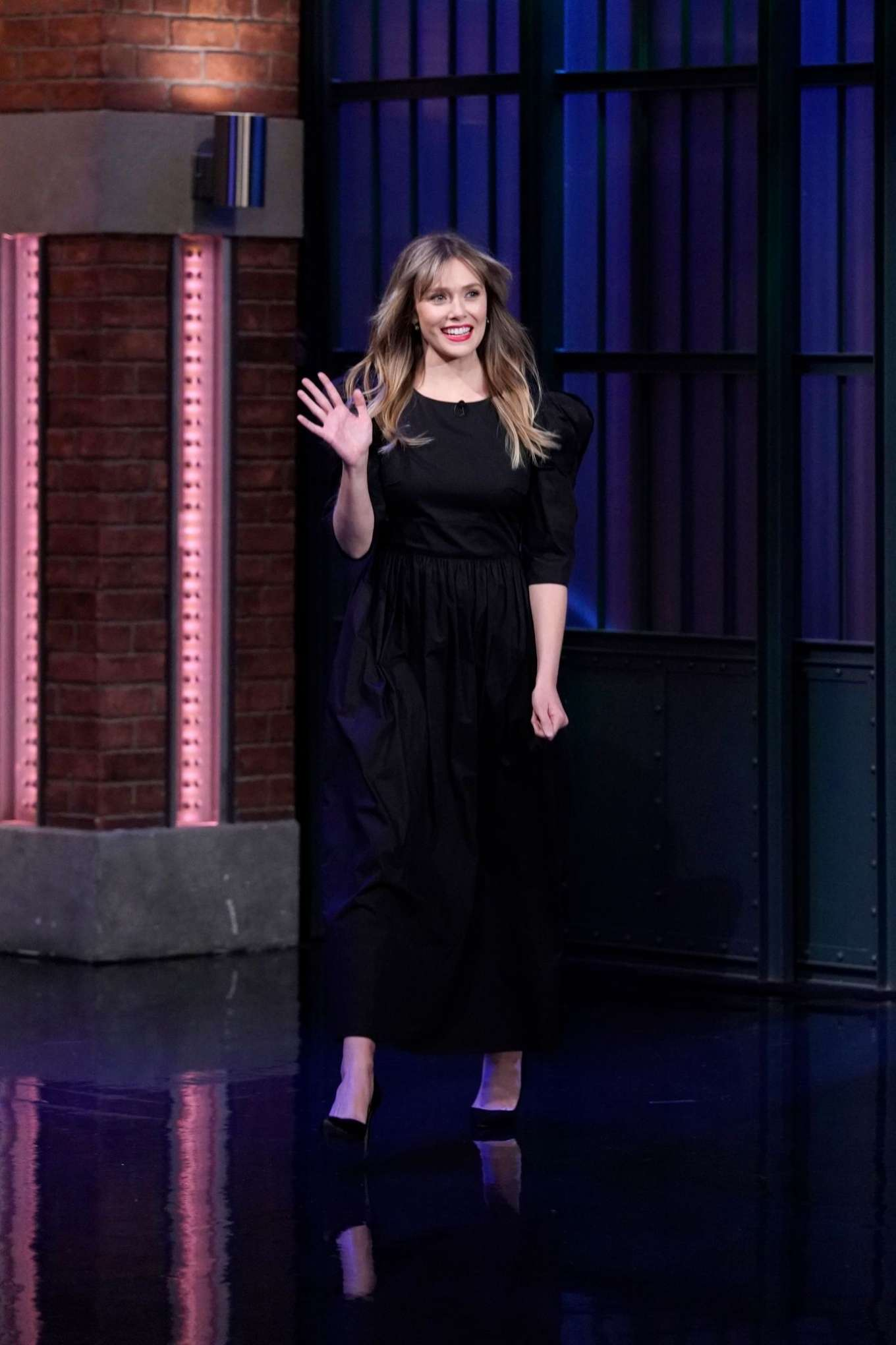 Elizabeth Olsen - On 'Late Night with Seth Meyers' in New York City