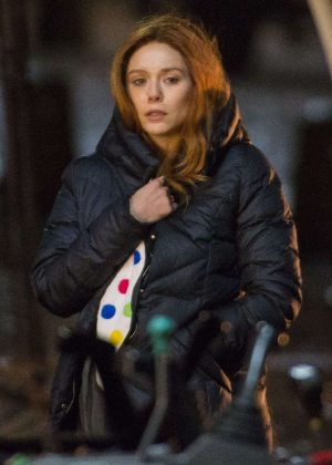 Elizabeth Olsen on set of Marvel 'Avengers: Infinity War' in Edinburgh