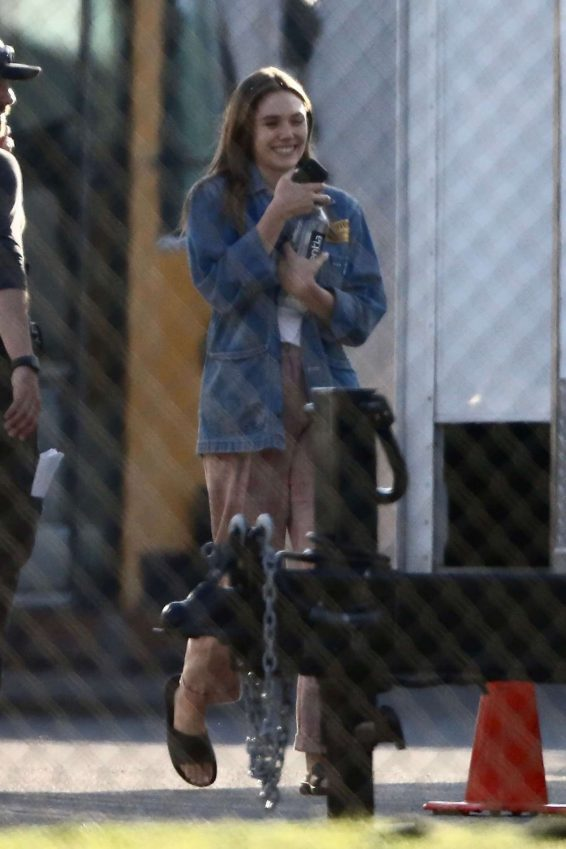 Elizabeth Olsen - On the set of 'Sorry For Your Loss' TV Series in Los Angeles