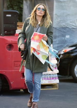 Elizabeth Olsen in Jeans Out in Los Angeles