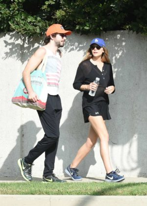 Elizabeth Olsen out for a walk with her boyfriend in LA