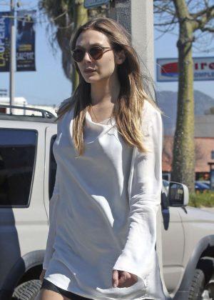 Elizabeth Olsen out in Beverly Hills
