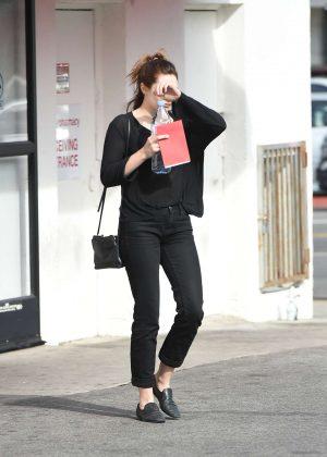Elizabeth Olsen out in Los Angeles