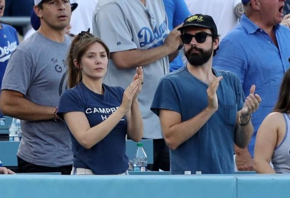 Elizabeth Olsen - Pictured at New York Yankees vs Los Angeles Dodgers