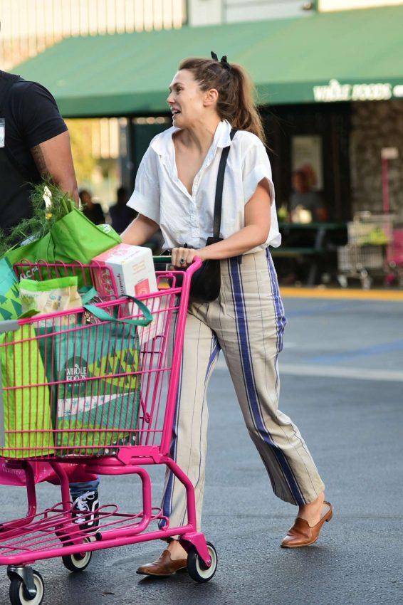 Elizabeth Olsen 2019 : Elizabeth Olsen – Shopping at Whole Foods Market-12