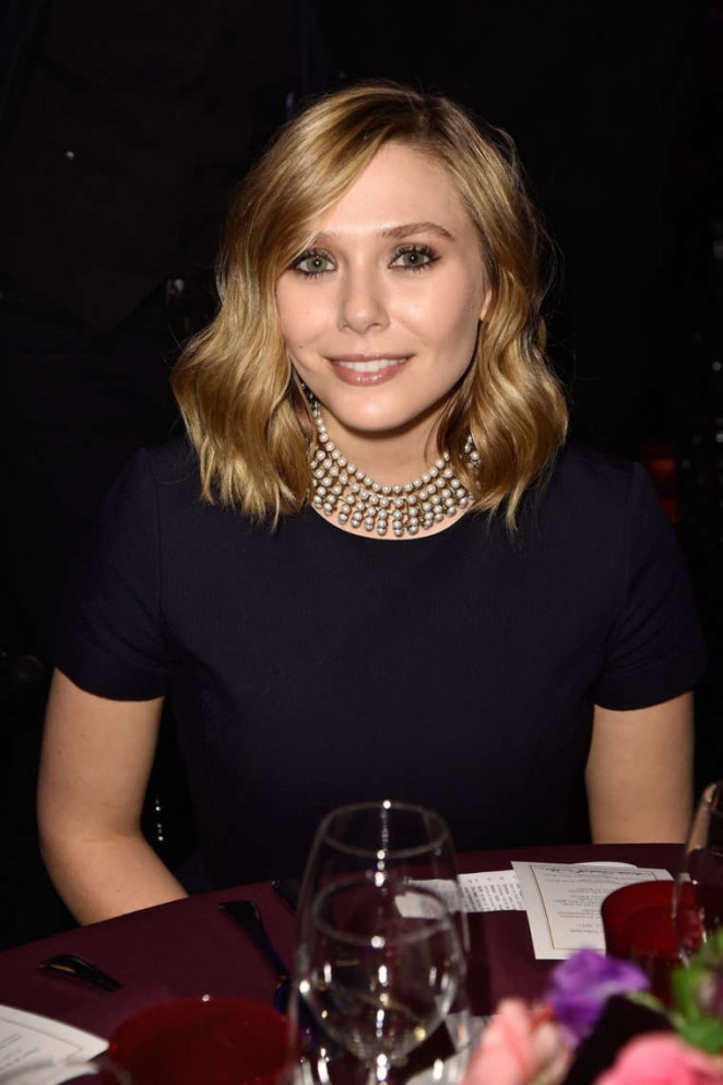 Elizabeth Olsen – Sidaction Gala Dinner in Paris