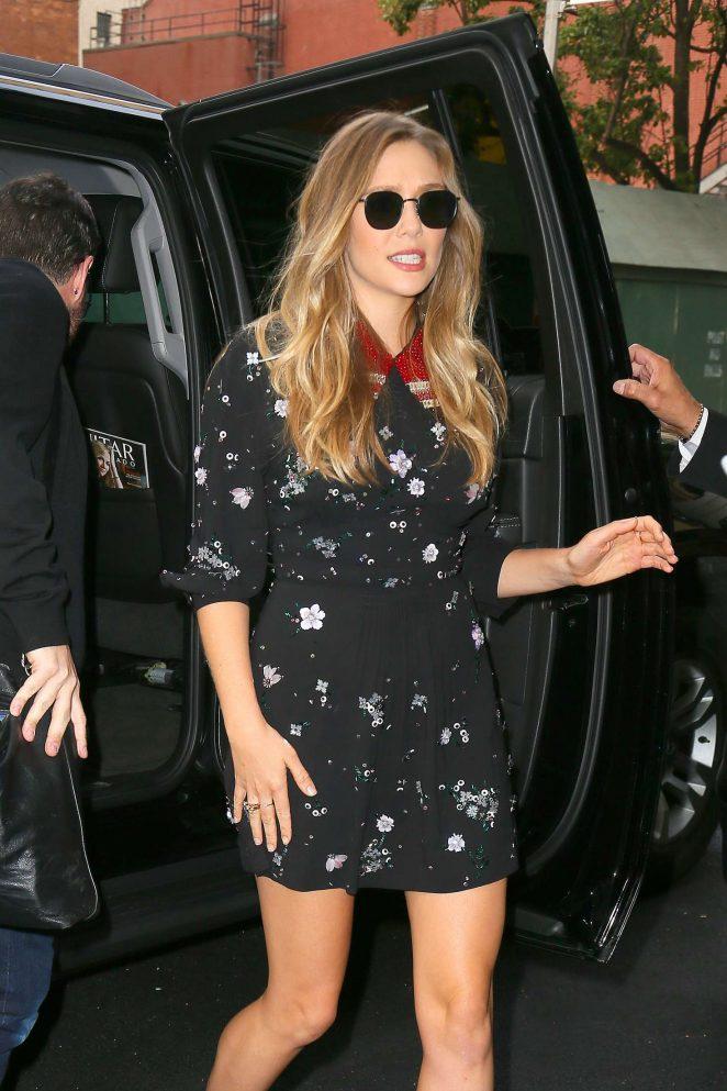 Elizabeth Olsen - Visits 'Good Morning America' in NYC