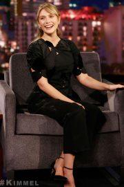 Elizabeth Olsen - Visits Jimmy Kimmel Live! in Hollywood