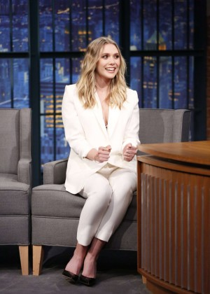 Elizabeth Olsen - Visits 'Late Night with Seth Meyers' in New York City