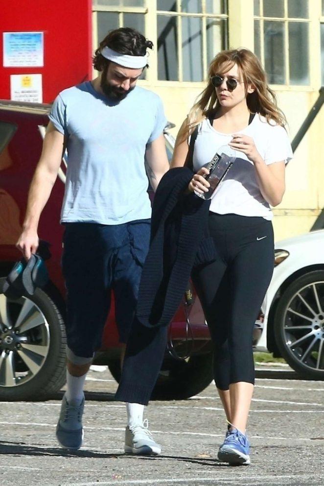Elizabeth Olsen with her boyfriend Robbie Arnett out in West Hollywood