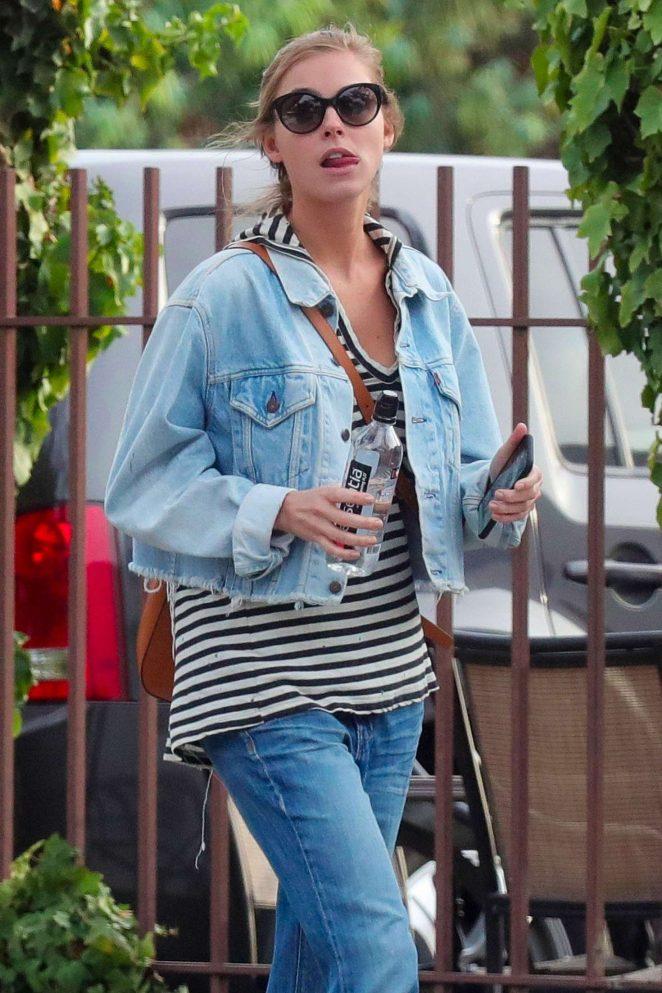 Elizabeth Turner in Jeans out in Santa Monica