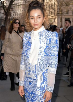 Ella Eyre - Bora Aksu Show at 2017 LFW in London