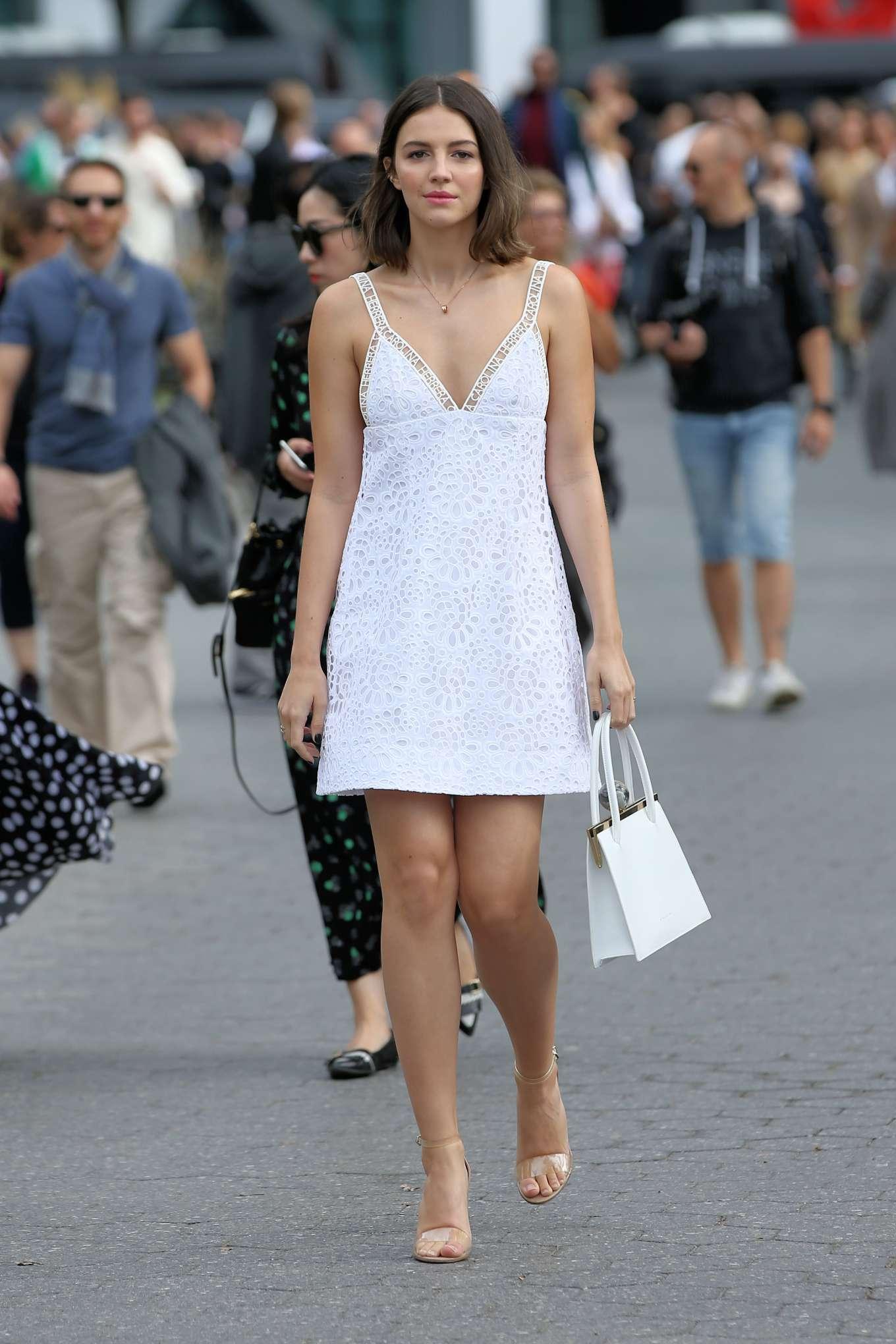 Ella Hunt - Attends Carolina Herrera SS20 Fashion Show in New York