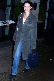 Ella Hunt - Leaving the press junket for 'Dickinson' in New York