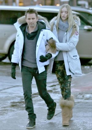 Elle Evans and Matthew Bellamy Out in Aspen