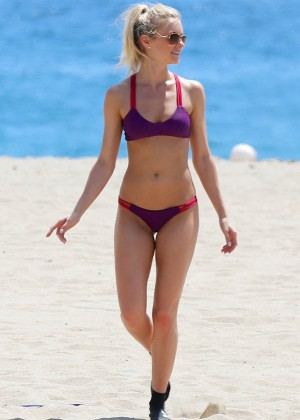 Elle Evans in Bikini on Malibu Beach