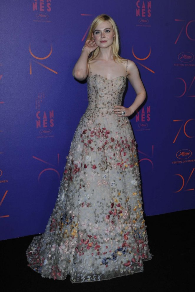 Elle Fanning - 70th Anniversary Dinner at 2017 Cannes Film Festival