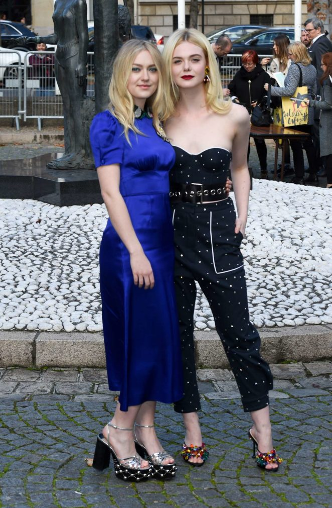 Elle Fanning and Dakota Fanning: Miu Miu show at 2017 ...