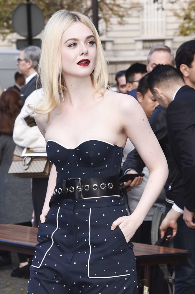 Elle Fanning and Dakota Fanning - Miu Miu show at 2017 Paris Fashion Week