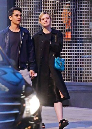Elle Fanning and Max Minghella - Out in London