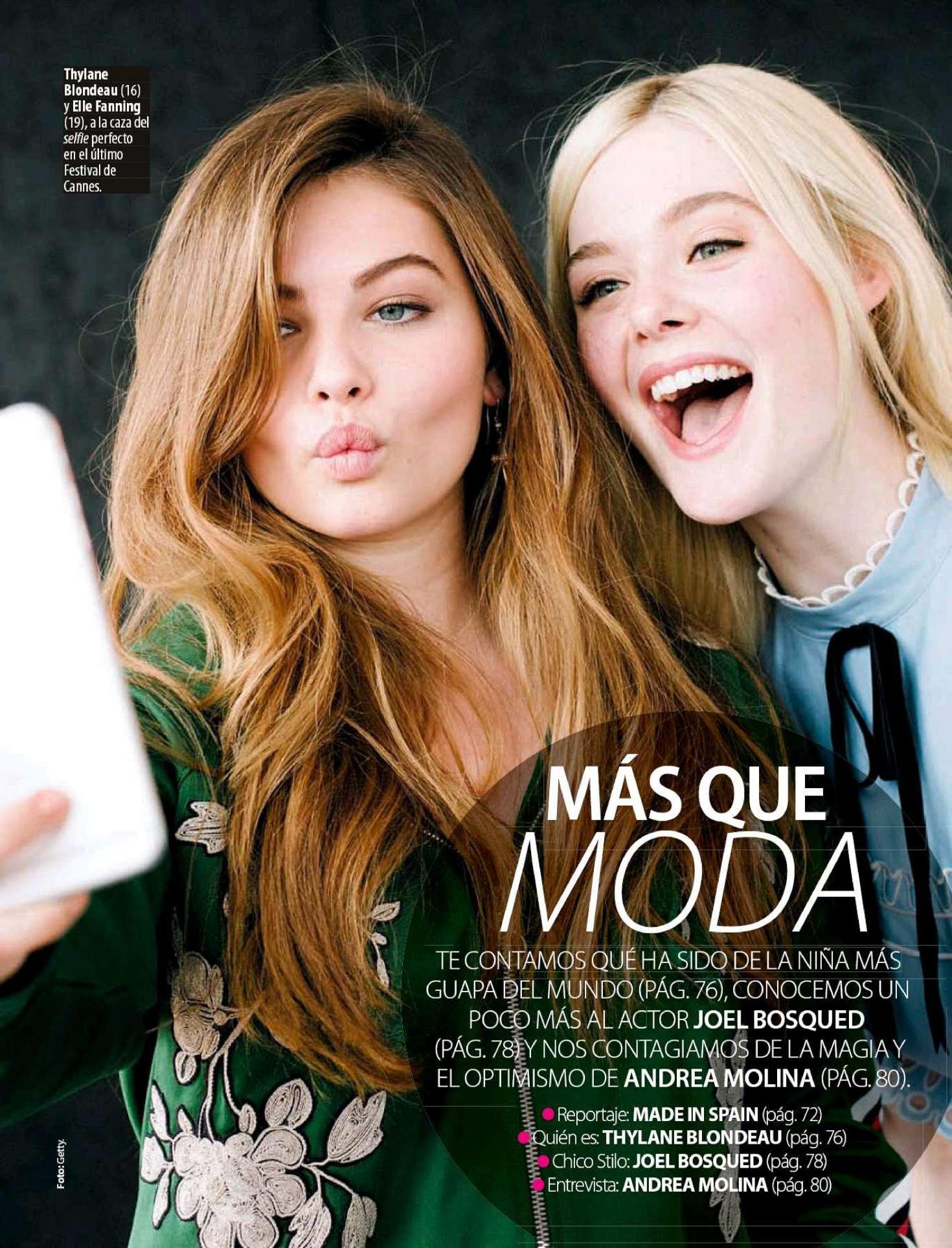 Elle Fanning and Thylane Blondeau - Stilo Spain Magazine (February 2018)
