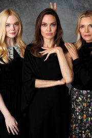 Elle Fanning, Angelina Jolie and Michelle Pfeiffer - Promote 'Maleficent' 2019