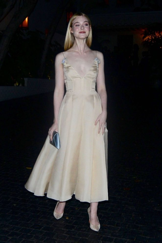 Elle Fanning - Arrives to The Chateau Marmont in LA