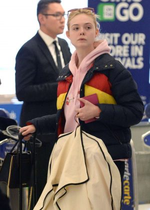 Elle Fanning - Arriving at JFK Airport in New York City