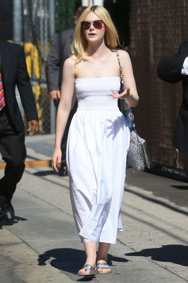 Elle Fanning - Arriving at Jimmy Kimmel Live! in LA