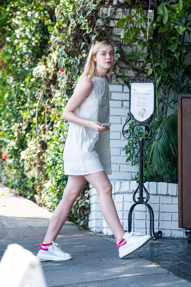 Elle Fanning - Arriving at the Chateau Marmont in West Hollywood