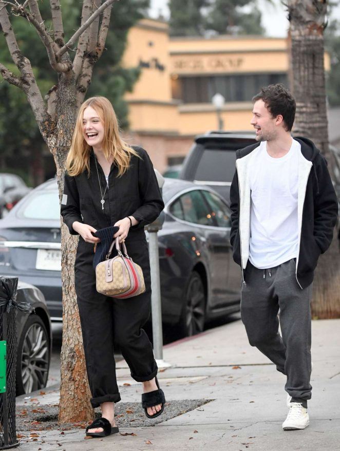 Elle Fanning at a late lunch in Studio City