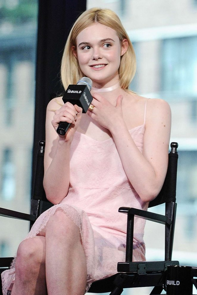 Elle Fanning at AOL Build Studios in New York